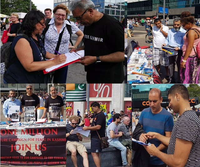 Signature camp on Kashmir in Berlin: A number Germans sign in favour of Kashmiris