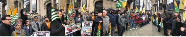 Kashmir Council-EUholds a protest on Indian Republic Day in Brussels